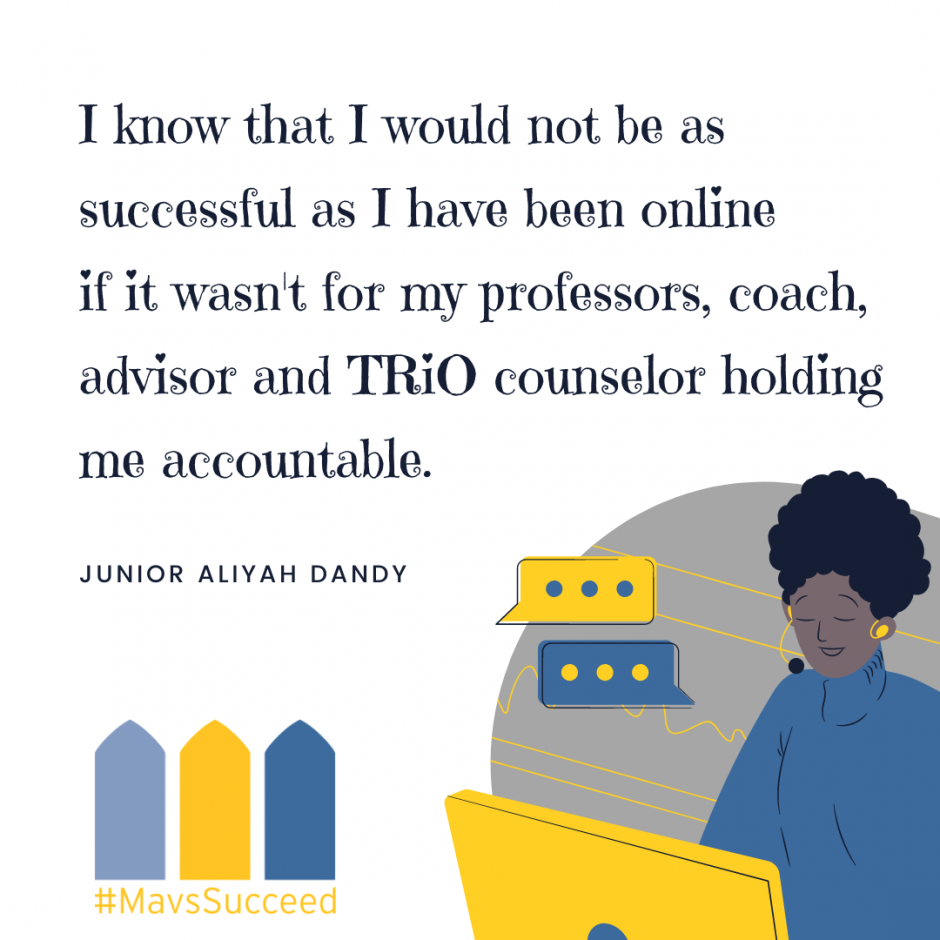 Junior Aliyah Dandy on How Much the Support of Faculty and Staff Has Meant to Her
